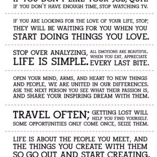 Holstee Manifestosu : Sıklıkla Seyahat Et, Kaybolmak Kendini Bulmana Yardımcı Olacaktır