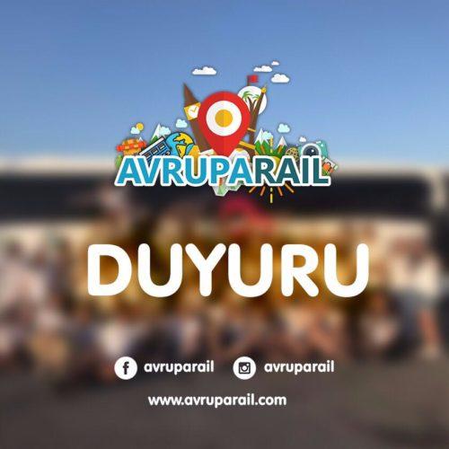AvrupaRail Otobüsümüzün 2018  Başvuruları Başladı