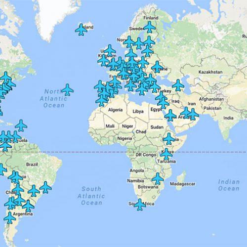 Tüm Dünyada Hava Limanı Wifi Şifreleri Haritası