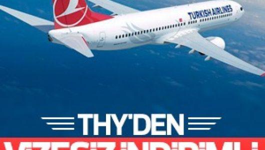 THY'den Vizesiz Ülkelere Ucuz Uçak Bileti Kampanyası