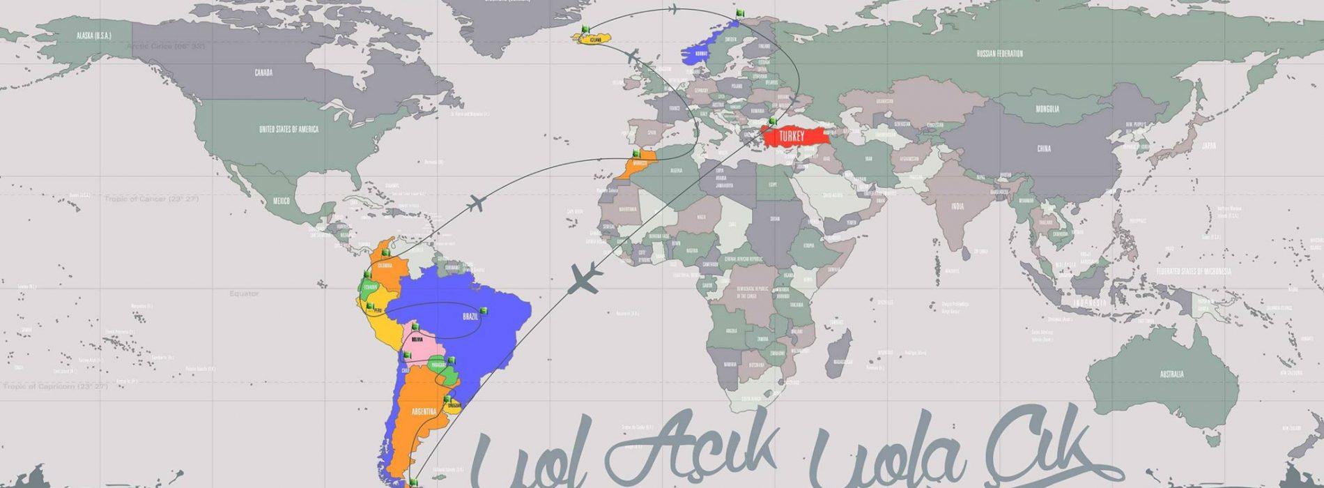 Duvar Kağıdı Boyutunda Dünya Haritaları