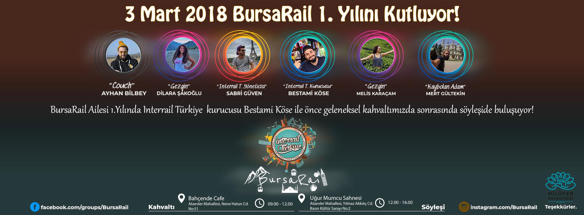 Bursarail 1.Yılında Kahvaltı ve Söyleşide Buluşuyor!